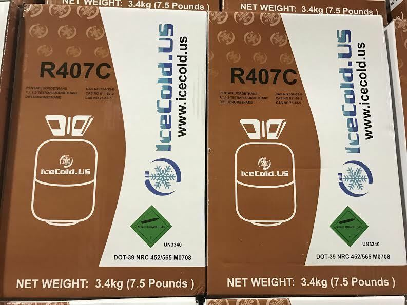 R-407c Factory Sealed Virgin Refrigerant 7.5lbs