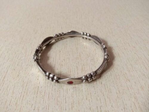 Antique Silver Berber Bracelet with Granulats from Morocco, Berber Bracelets, Mo
