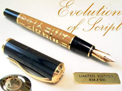 PELIKAN Fountain Pen EVOLUTION OF SCRIPT M-nib Limited Edition LE 18ct Gold Nib
