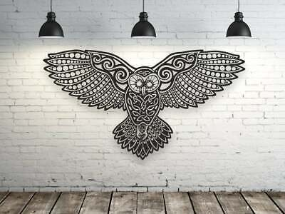 Model Owl Panel Decorative Picture Dxf Svg Cdr Vector Laser Cutting Or Cnc