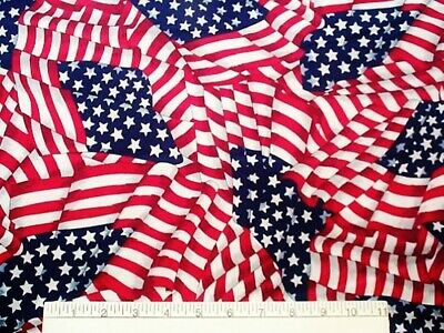 AMERICAN FLAG Cotton Fabric Waving DIY Craft -  60