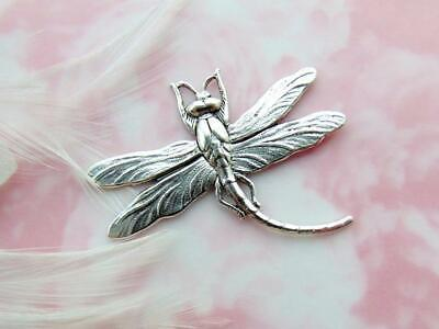 ANTIQUE SILVER Dragonfly Connector Stamping ~ Jewelry Findings (B-629)
