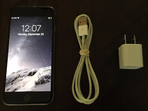 iPhone 6 16Gb Space Grey-Very Good Condition-Locked with Telus