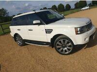 White Range Rover Sport (Anti Theft Control System)