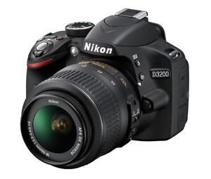 Nikon D3200 24.2MP Camera Black w/18-55mm VR Lens USA WARRANTY FREE SHIPPING!