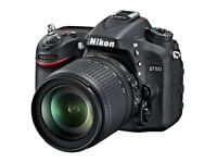 Nikon D7100 with lenses and flash