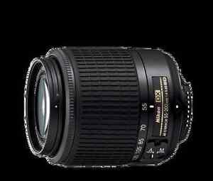 Lens nikon afs nikkor 55-200mm 1.4 5.6g ed West Island Greater Montréal image 1