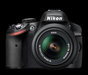 appareil photo nikon d3200 avec lentille dx