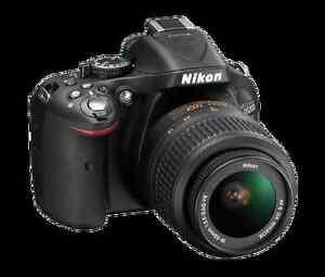 Nikon D5200 Kit Lens + 50mm 1.8G lens + Speedlight SB-700