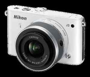 Nikon 1 J3 with charger, USB, lens caps Peterborough Peterborough Area image 1