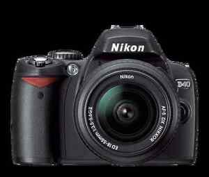 NIKON D40 SLR CAMERA WITH AF-S 18-55 DX LENS + 8G MEM STICK