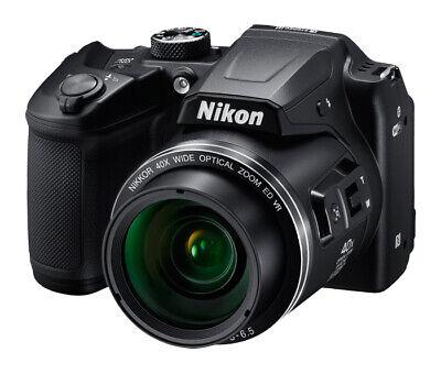 Nikon COOLPIX B500 16MP Digital Camera - Black - 40x Zoom, Wi-Fi, NFC, Bluetooth
