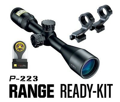 Nikon 16387 P-223 Range Ready Kit 3-9x40mm BDC 600 Reticle Matte Riflescope