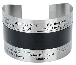 Stainless Steel Wine Bracelet Thermometer  -  SILVER  NEW