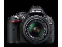 Nikon D5200 DSLR Camera with 18-55mm VR Lens - Black