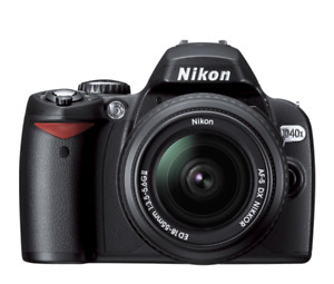 Nikon D40x Digital Camera with Two Lenses and Bag