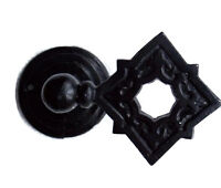 Large Satin Black Celtic Gothic Style Square Metal Curtain Tiebacks Hold Backs 2 - cosy living - ebay.co.uk