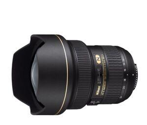 AF-S NIKKOR 14-24mm f/2.8G ED -   In A1 condition w/case, hood