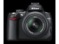 Nikon D5000 Digital SLR Camera - Black. Comes with versatile lens - AF-S VR DX 18-55mm.