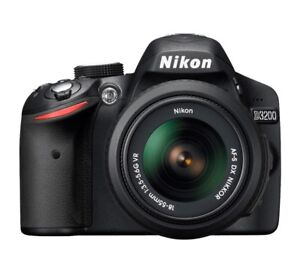 Nikon D3200 Camera with Zoom Lens and Case For Sale