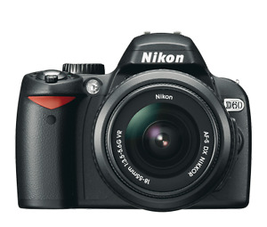 Nikon D60 camera (body only, or with lens)