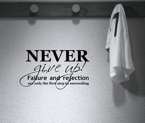 never motivational sport quote wall art decal stickers