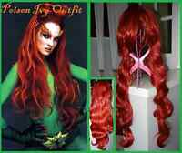 NEW Long Wavy Dark Red Wig -POISON IVY Costume (300-1290)