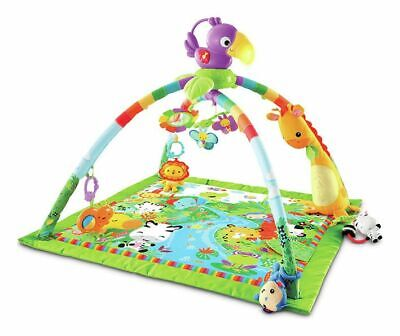 Fisher-Price Rainforest Music & Lights Deluxe Activity Gym.