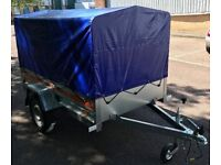 New 6 x 4 Car Trailer with Cover ... Removals, Logs, Skip Runs, Car Boot, Garden Waste