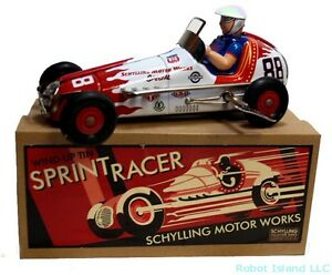 Sprint Champion Racer Tin Toy Car Windup Car Yonezawa Schylling Toys