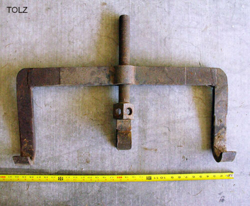 RARE JIM CROW TOOL FROM BISBEE COPPER QUEEN MINING COMPLEX - ANTIQUE RAIL BENDER