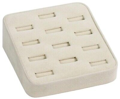 Beige 12 Slot Ring Tray Jewelry Store Boudoir Display Pawn Shop
