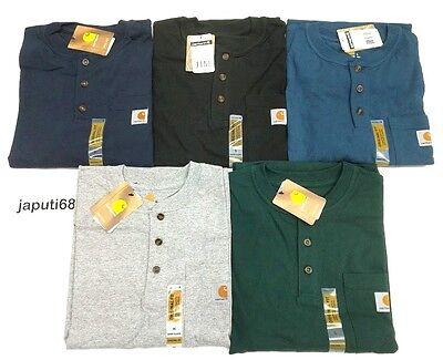Carhartt Workwear Henley Shirt (Carhartt K84 Workwear Henley Pocket T-Shirt [J1/J2-84] Free shipping )