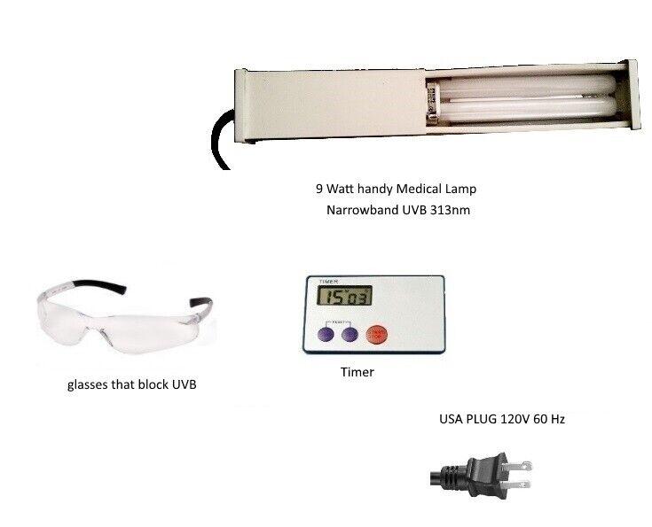 Narrowband UVB phototherapy lamp with bulb for Vitiligo Psoriasis Eczema