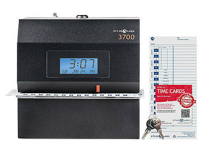 Pyramid 3700 Heavy Duty Steel Time Clock And Document Stamp - Made In The Usa