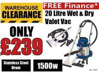 Draper 75442 20l 1500w Wet Dry Shampoo Carpet Cleaner Car Valet Valeting Machine