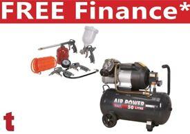 Sealey SAC5030VE Compressor 50 litre Direct 3hp + Sa33g Air Accessory Kit 5pc