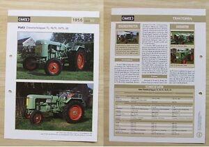 HATZ Traktor Schlepper TL 15 / TL 18 / TL 33 1956 Weltbild