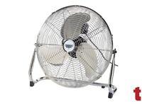 "Draper Expert 51076 450mm (18"") 230V Industrial Fan 3 Speed"