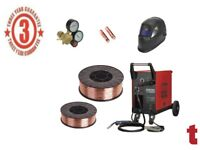 SEALEY MIGHTYMIG210 GAS / NO-GAS MIG WELDER 210A + 5KG WIRE + HELMET