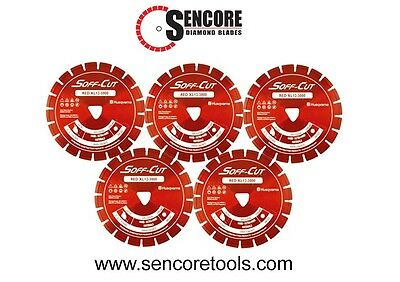 Husqvarna Excel 3000 6 Red Soff Cut Ultra Early Entry Diamond Blade 5pk