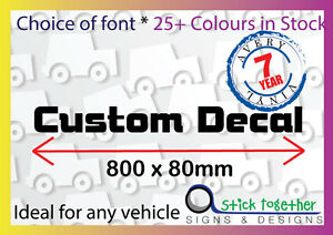 Custom Words Decal - 800mm wide Car Sticker / Decal, Cut Vinyl Letters/Lettering