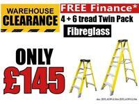 Jefferson 4 & 6 Tread Fibreglass Step Ladders Builders Electricians VDE Ladder