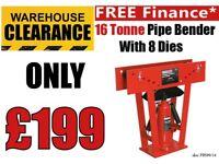 "Sealey PBS99/14 16 ton Hydraulic Pipe Bender + 8 dies 15- 75mm 3"" for bending Pipe"