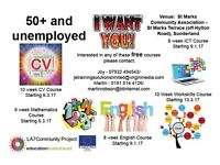 Free classes for 50+ who are unemployed.
