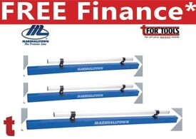 SET OF 3 Marshalltown 12' 10' & 6FT Aluminum Combo Darby/Screed + Handle
