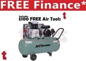 Jefferson 200L litre 3HP Compressor 13amp 10 bar 13.9cfm JEFLW3.0/200L + £100 Free Air Tools
