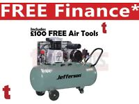 Jefferson 200L litre 3HP Compressor 13amp 10 bar 13.9cfm JEFLW3.0/200L + £100 Free Air Tools