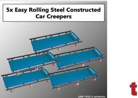 SET OF 5 MECHANICS CAR CREEPER WITH 6 EASY ROLLING CASTORS 783171