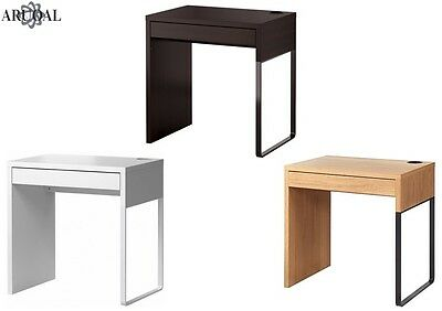ikea micke desk computer home office in white black brown 73 x 50cm. Black Bedroom Furniture Sets. Home Design Ideas